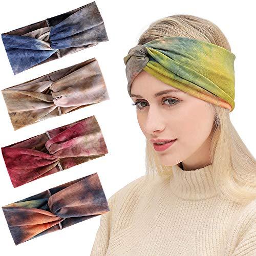 Bascolor Fascia per Capelli Donna fiore stampare Headband elastiche Turbante  Fasce Yoga fascia sport per donna c061cb52be82