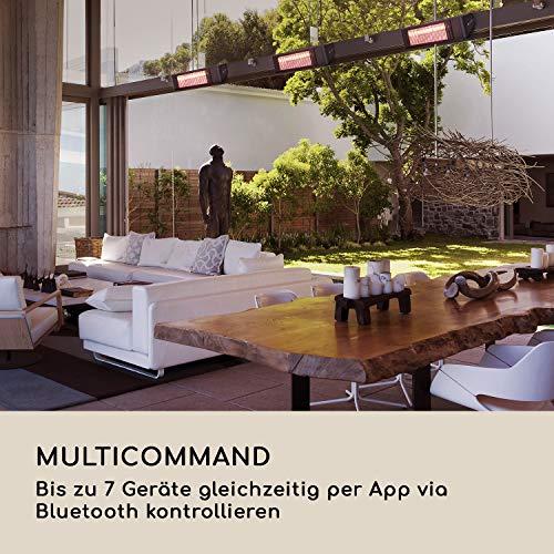 blumfeldt Gold Fever Smart • Infrarot-Heizstrahler • Terrassenheizstrahler • 2000 W • 6 Wärmestufen • Infrarot • Bluetooth • App-Control • bis 20 m² • inkl. Fernbedienung und Wandhalterung • schwarz - 5