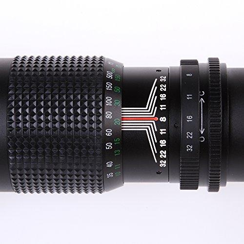 Fotga 500mm F8F32Zoom Teleobiettivo messa a fuoco manuale per CANON NIKON SONY tutte le fotocamere DSLR