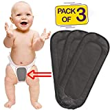 Bembika 5 Layer Bamboo Charcoal Inserts Liners Natures Cloth Diaper Liner, Wetfree Reusable