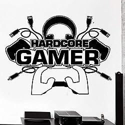 Creative Gamer Sticker Mural Gamer Player Gaming Vinyle Pour Enfants Vinyle Sticker Mural Garçons Chambre Décorative Décoration de La Maison 55X87 Cm