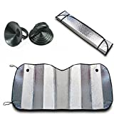 #5: Fold-able Car Sunshades for Front/Rear Windshield Suitable to All Windshields