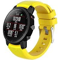 LANSKIRT_Correas de Reloj Suave de Silicagel Correa Reloj Deportivo Accesorios para Relojes Recambio Brazalete Extensibles Pulsera para Amazfit Stratos Smart Watch 2