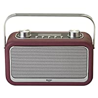 Bush Leather DAB Radio - Aubergine