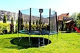 Best for Sports Trampolin mit TÜV Intertek und GS Zertifikat grün 305 cm mit Sicherheitsnetz, Leiter, REGENABDECKUNG, BIS 150 KG (305 cm) - 2