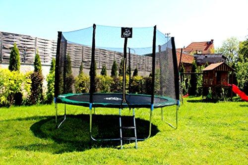 Best For Sports Trampolin mit TÜV Intertek und GS Zertifikat grün 305 cm mit Sicherheitsnetz, Leiter, REGENABDECKUNG mit ANKER KIT , BIS 150 KG - 2