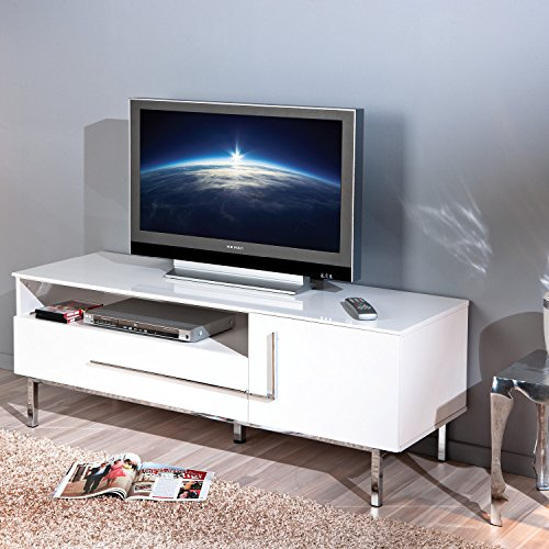 Links 50700670 TV-Kommode Deltino III MDF, Hochglanz, 145 x 47 x 49 cm, weiᄃ - 3
