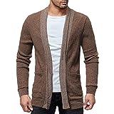 Strickjacke Herren MEIbax Mode Solid Sweatshirts Wollpullover Beiläufige Slim Fit Jacke Mantel Kaschmir Pullover