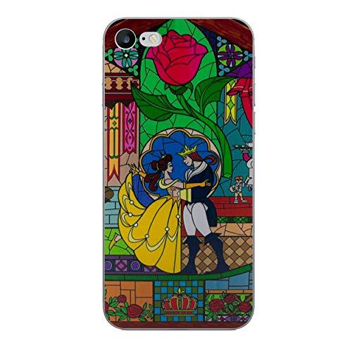 iPhone 8 Die Schöne und Das Biest Rose Silikonhülle / Gel Hülle für Apple iPhone 8 (4.7