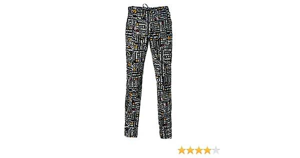 GIBLOR S Art.14P08P477 Pantalone Cuoco Alan Fantasia Menu Nero  Amazon.it   Abbigliamento d97bdcdec3fb