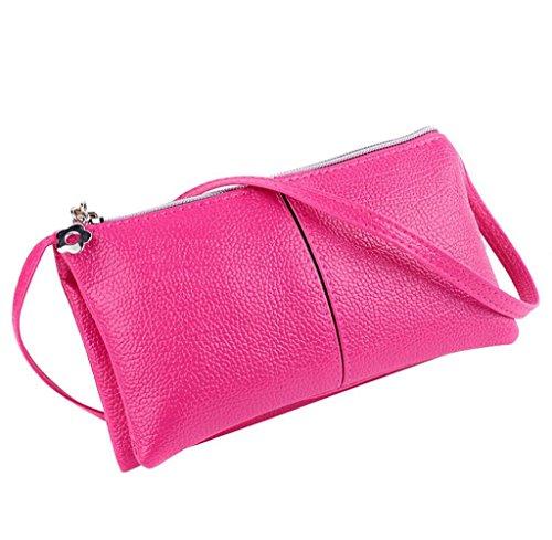 Geldbörsen, Rcool Damen Mode Leder Bifold Geldbörse Reißverschluss Clutch Handtasche Schultertasche (Hot (Hot Geldbörsen)