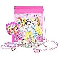 Disney Princess Jewelry Set, with Princess Tiara, Necklace, Mirror, PLUS Disney Princess Bag - Party Favor Bundle by Disney