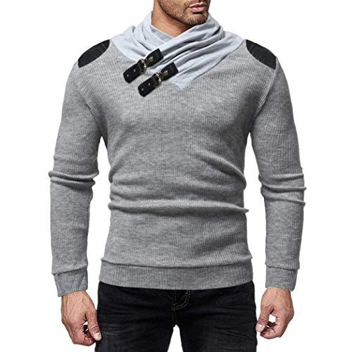 Imagen de wwricotta luckygirls camisetas para hombre camisa de manga larga punto patchwork de cuero originales casual poleras deportes polo remeras fitness sudaderas modernas streetwear chándal suéter alternativa