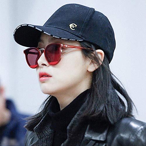 WDSLHH Neue Sonnenbrille Rote Marke Sonnenbrille Weiblichen Koreanischen Version Der Flut Retro-Brille Neuen Damen Pulver