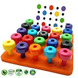 Peg Board Set with Pattern Card - Fine Motor Toy for Toddlers