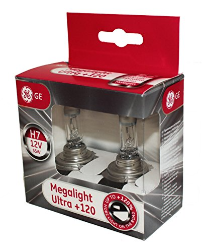 General Electric 58520SNU H7 12V 55W PX26D MegaLight Ultra +120% Doppelbox (Ge 120 Lampen)