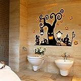 Speciale Halloween Decorazione Murale Di Halloween Ghost House Soggiorno Albero Morto Zucca Tortino Eco-Wall Pasta Pvc Auto-Pasta Specifiche: 60 X 90 Cm
