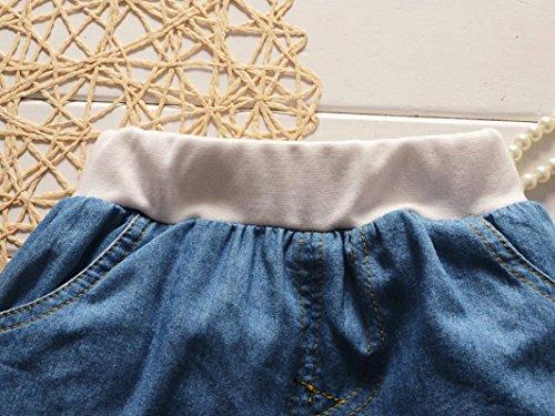 Saingace Bébé Garçons T-shirt + Denim Pantalons Courts Vêtements Ensemble (Label Size:S(0-6Mois), Rose) Rose