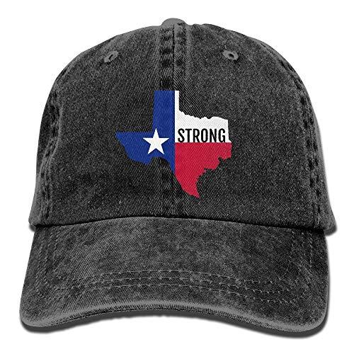 Sdltkhy RZM YLYs Texas Strong Unisex Erwachsene Vintage Washed Denim Justierbare Baseballmütze ()