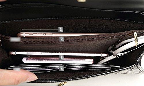 Art und Weisehandtaschen, Handtaschen, weibliches Leder große Kapazität europäisches und amerikanisches Diamantabendessenpaket, Lederbankettpaket ( Farbe : Silber ) Blau