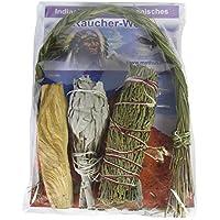 Indianisch Räuchern Hausreinigung 5-tlg Räucher-Set Sage Salbei Zeder + Palo Santo + Sweetgrass #81015 | + Booklet... preisvergleich bei billige-tabletten.eu