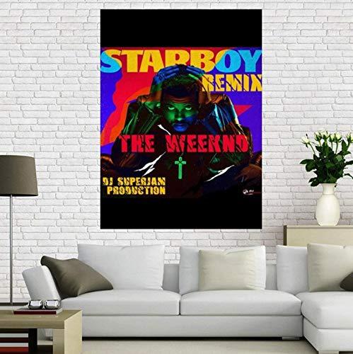REDWPQ Poster su Tela Personalizzato The Weeknd Trilogy Music Poster Decorazione per la casa Tessuto di Stoffa Stampa di Poster da Parete 40X60 cm Senza Cornice