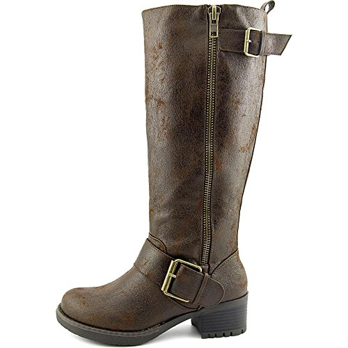Mia Peterson Wide Calf Femmes Synthétique Botte brown