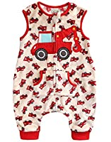 Vaenait Baby 1-7Y Super Soft Microfiber Fleece lined Kids Boys Sleep and Play Blanket Sleepsack Red Crane S