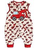Vaenait Baby 1-7Y Super Soft Microfiber Fleece lined Kids Boys Sleep and Play Blanket Sleeper Pyjama Red Crane M