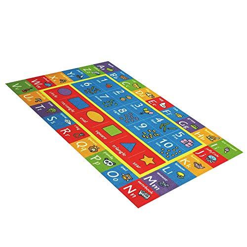Volwco - Alfombra de juegos de franela para niños,para bebés,puzle de niños,esterilla de juego extragrande,alfombrilla de juego para bebé para gatear,para aprender lucir y divertirse de forma segura