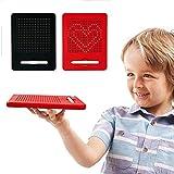 Magnetische Reißbrett, Woopower Kinder Stahlkugel Zeichnung Schreibtafel / Skizzenblock / Doodle Boards Lernspielzeug für Kinder Kinder (Rot)