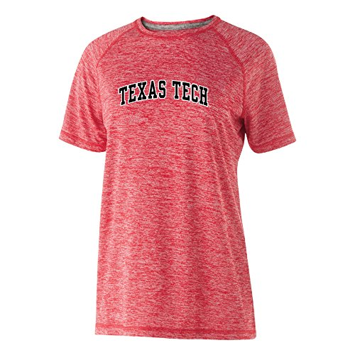 NCAA Texas Tech Red Raiders Women's Electrify Short Sleeve Tee, Scarlet Heather, Large -
