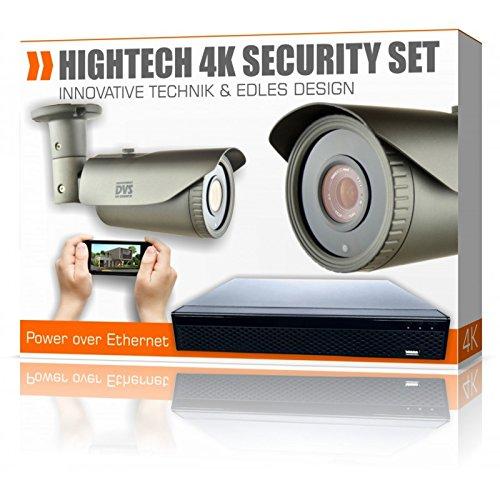 Dvs-Alemania--Calidad-4-K-de-cine-Video-Vigilancia-2-x-4-K-cmaras-IP-con-4-K-VHS--dvlc-de-liz800s1--1000-GB-Disco-Duro