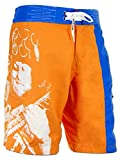 SEESTERN Noddy Holder Memorial Boardshorts Voice of Slade Feel The Noize XXS-3XL Noddy Holder_Orange 3XL