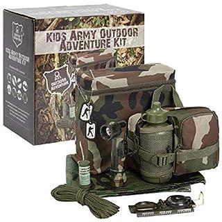 Absab Ltd KAS Childrens Army Outdoor Adventure Kit Kids Military Den Kit Ideal Gift