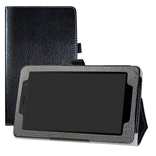 LFDZ Alcatel 1T 7 inch Hülle, Schutzhülle mit Hochwertiges PU Leder Tasche Case für 7