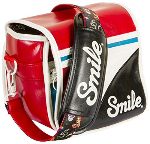 Smile Pin Up Style - Bolsa reversible para cámara réflex (DSLR), mirrorless, compacta, Multicolor, tamaño S