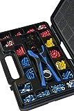 Kabelschuhe Sortiment Set im Koffer mit Crimp-Zange 502 Teile