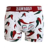 Bawbags Cool De Sac Chilli Boxer Shorts - White -Large