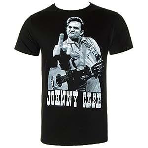 Johnny Cash Finger Salutes T-Shirt schwarz grau L
