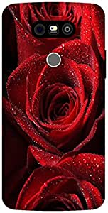 The Racoon Grip red rose hard plastic printed back case / cover for LG G5