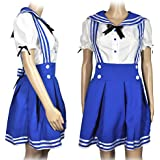 CoolChange uniforme cosplay de colegiala, azul, talla: M