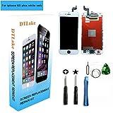 Premium Display-Ersatzteile kompatibel mit iPhone 6S Plus 5.5inch (Modelle A1634, A1687) LCD Komplette Reparatur-Kits, LCD-Digitalisierer-Touch-Display Glas-Montage mit Werkzeuge, Anleitung ( weiß)