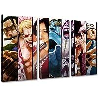 Seven Samurai, una pieza de diseño, Canvas 3-pc (Total Tamaño: 120x80 cm), la impresión del arte de alta calidad como un mural. Más barato que una pintura al óleo! ADVERTENCIA NO cartel!