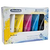Schmincke AKADEMIE Acryl Color Acrylfarben-Set 5x75ml für Acrylmalerei hochwertige feine Künstler Acryl-Farben