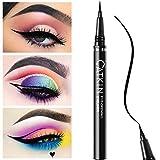 USHION wasserdichter Eyeliner Ultra feine lange letzte schnelle trockene flüssige Eyeliner-Stift mit dünner Spitze-schwarz