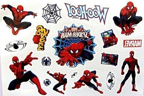Preisvergleich Produktbild Tattoos SHIHAN-'Spiderman' Tattoos Film Superhelden Union Kinder Flasche Tätowierung Sticker Wasserfest Entfernbar Tatoo Für Kinder