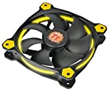 Thermaltake Riing 12 LED Case Fan - Black/Yellow