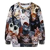 Kittenz 3D Digital Print Sweatshirt Fashion T-shirt Unisex Animal Cartoon PrintTops (Cats)