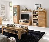 expendio Wohnzimmer Pisa 46 Eiche Bianco massiv 5-teilig Wohnwand Couchtisch Wohnmöbel